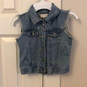 Children's Place Girls Jean Vest